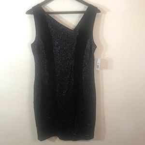 Jessica Simpson Black Sequin and Lace Dress
